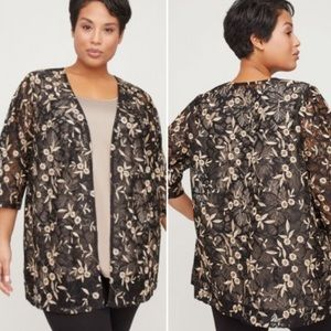CATHERINE'S Lace Dahlia Embroidered Cardigan